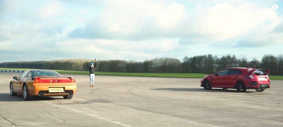 NSX Vs Civic Type R Dig Race