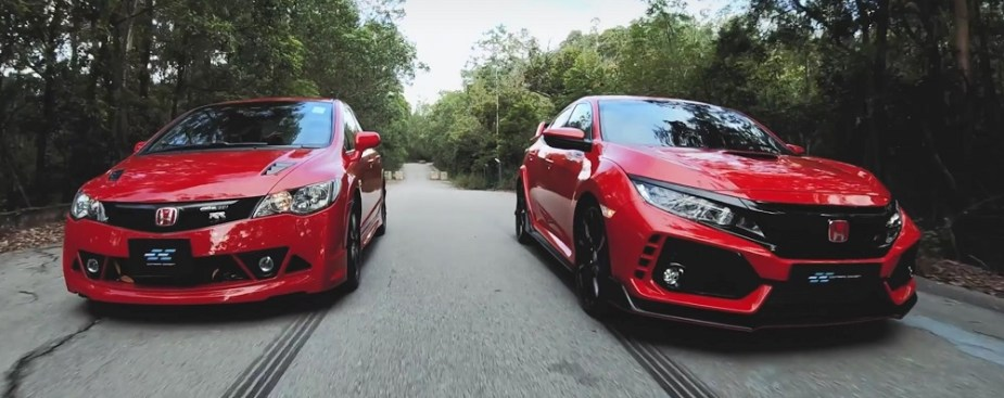 Honda Civic Type R FK8 vs. Civic Mugen RR FD2 Honda-tech.com