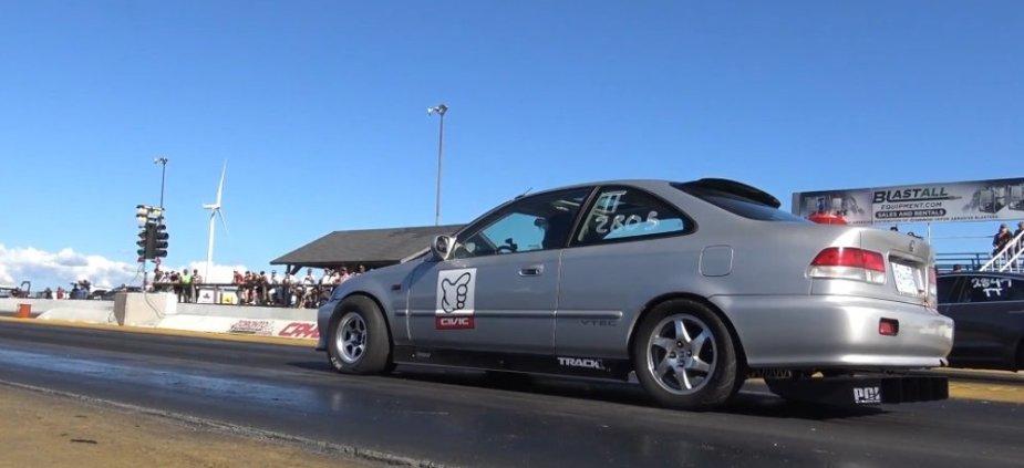 Honda Civic Drag Car Rear Launch
