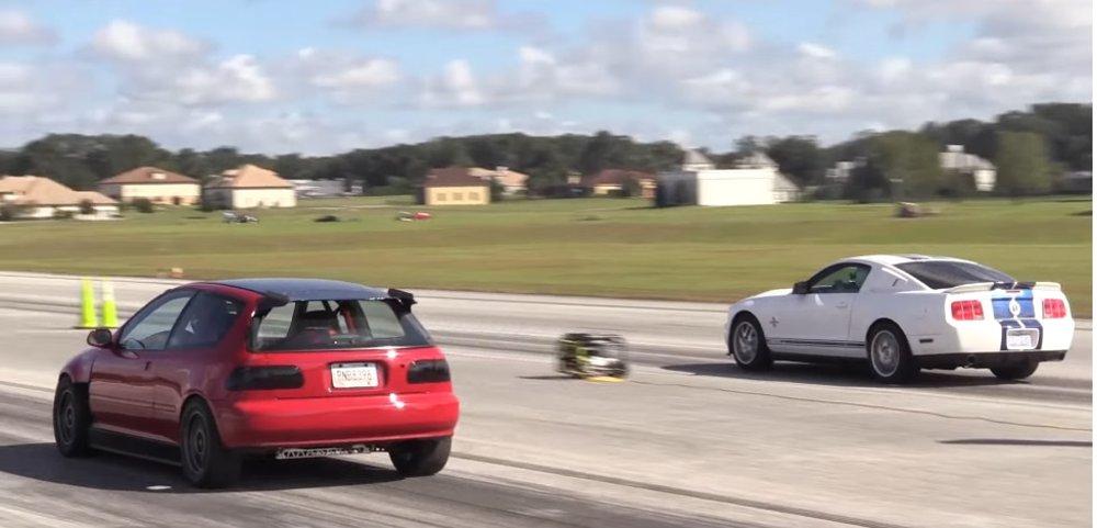 Civic Beats Mustang