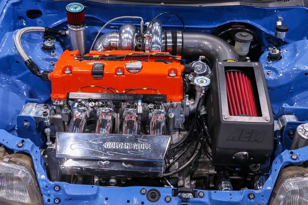 AEM/Bisimoto Civic Wagovan engine