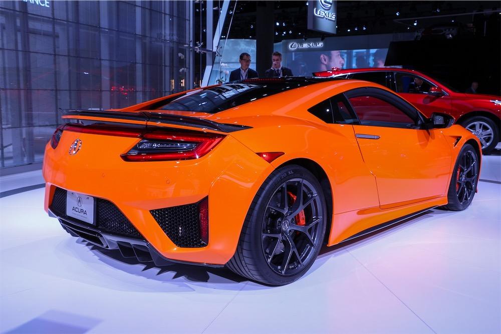 Acura NSX in orange.