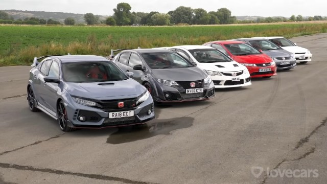 Six Generations Civic Type R