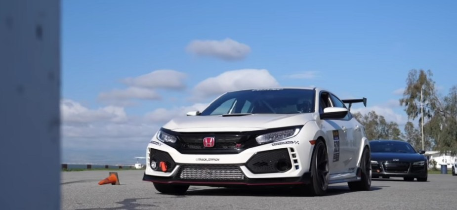 Honda Civic Type R FK8 Beats Buttonwillow Audi R8 Race