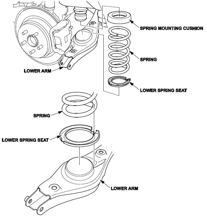 Clunk or Squeak From the Rear Suspension/Rear Lower Spring