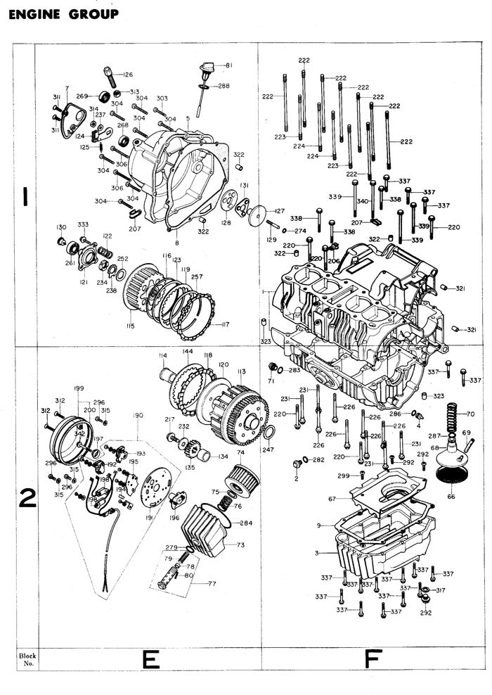 exploded views  parts list | 4into1 Vintage Honda