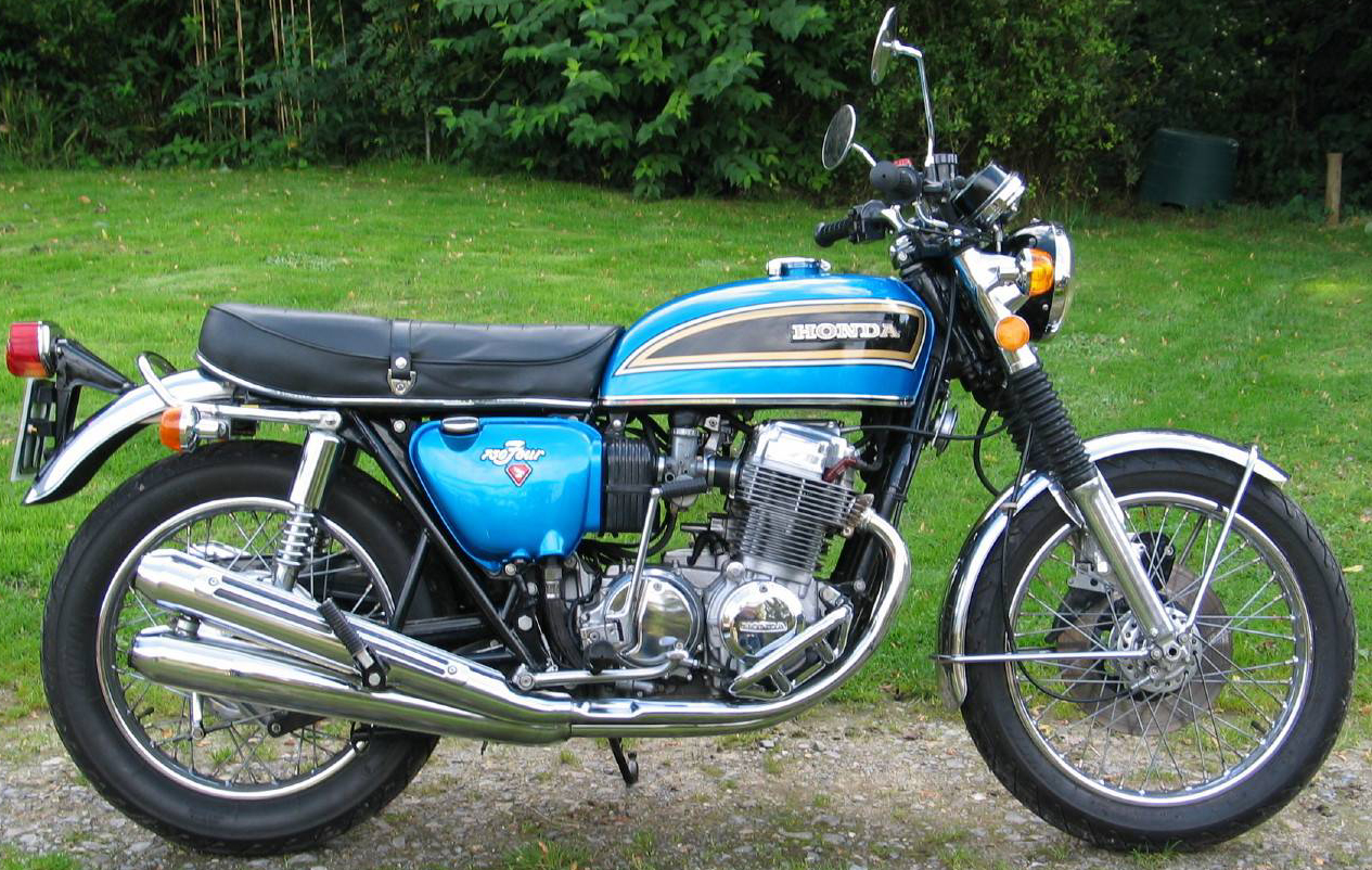 hight resolution of honda 750 blue 1976