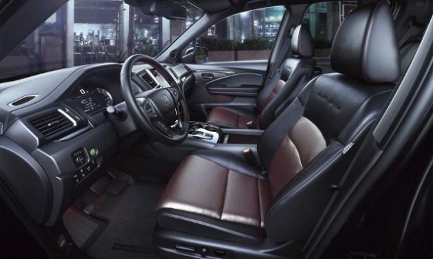 2021 Honda Ridgeline Black Edition interior