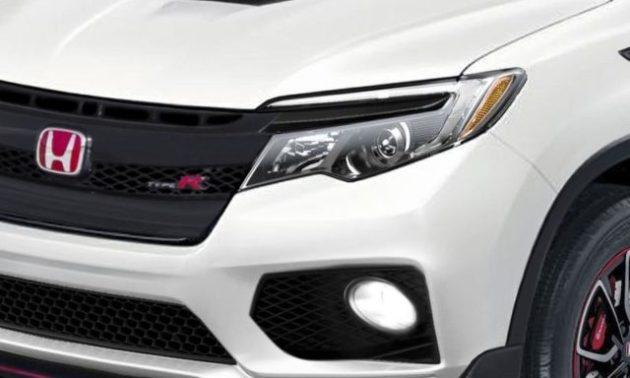 2021 Honda Ridgeline Type R front