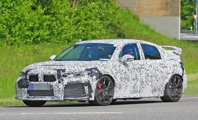 2022 Honda Civic Type R spy shots