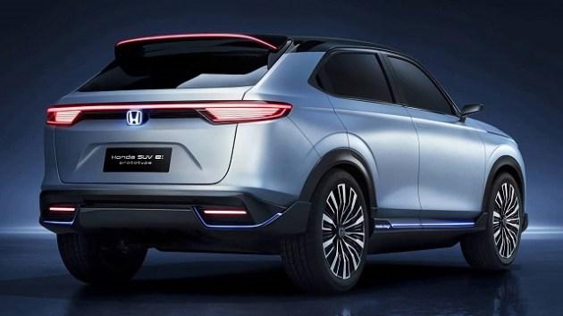 2023 Honda E-SUV rear