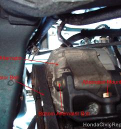bottom view of alternator honda civic ex 1998  [ 1632 x 1232 Pixel ]