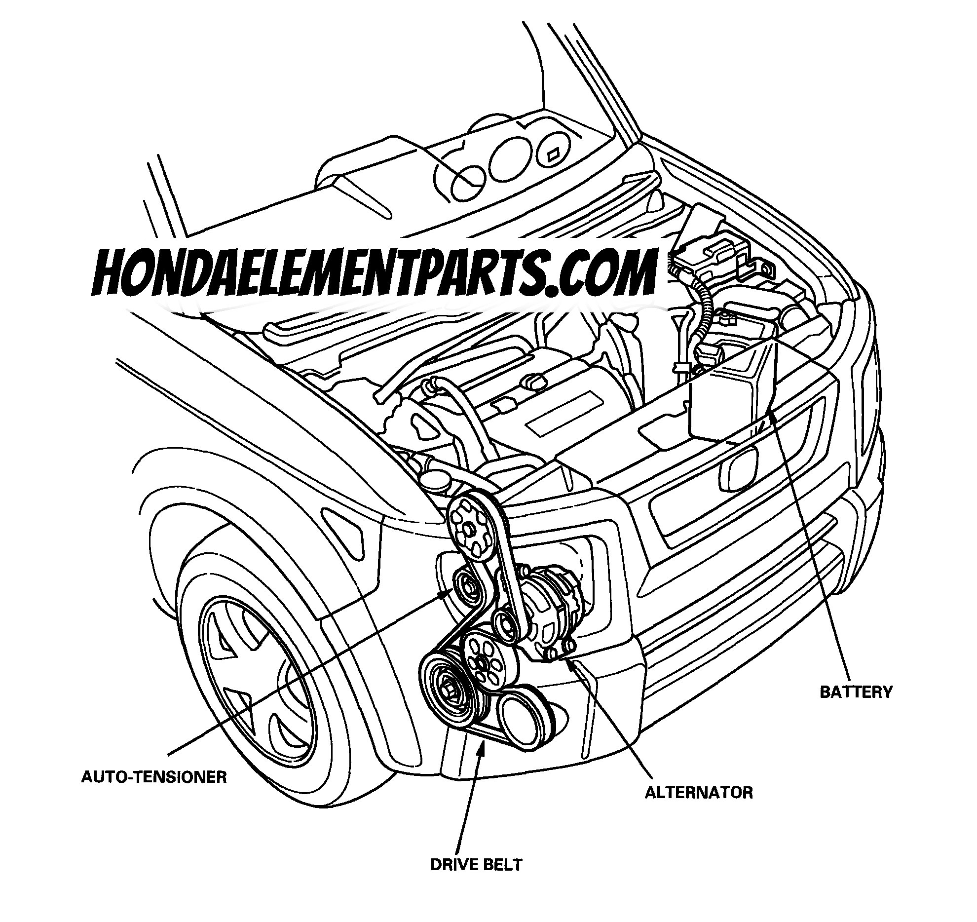 How to Replace Honda Element Serpentine Belt & Tensioner