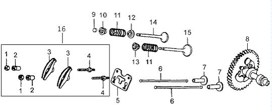 Camshaft System : Honda GX340 Parts , Quality aftermarket