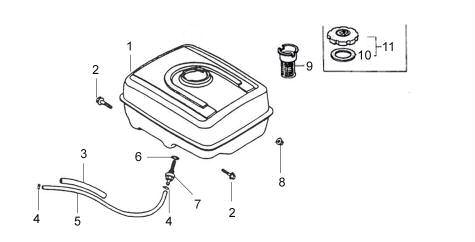 Fuel Tank system : Honda GX340 Parts , Quality aftermarket