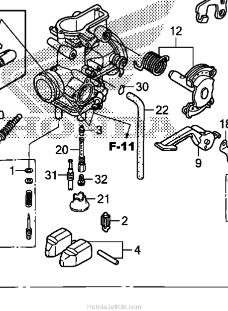 Honda 250ex Engine Diagram Honda 400Ex Engine Diagram