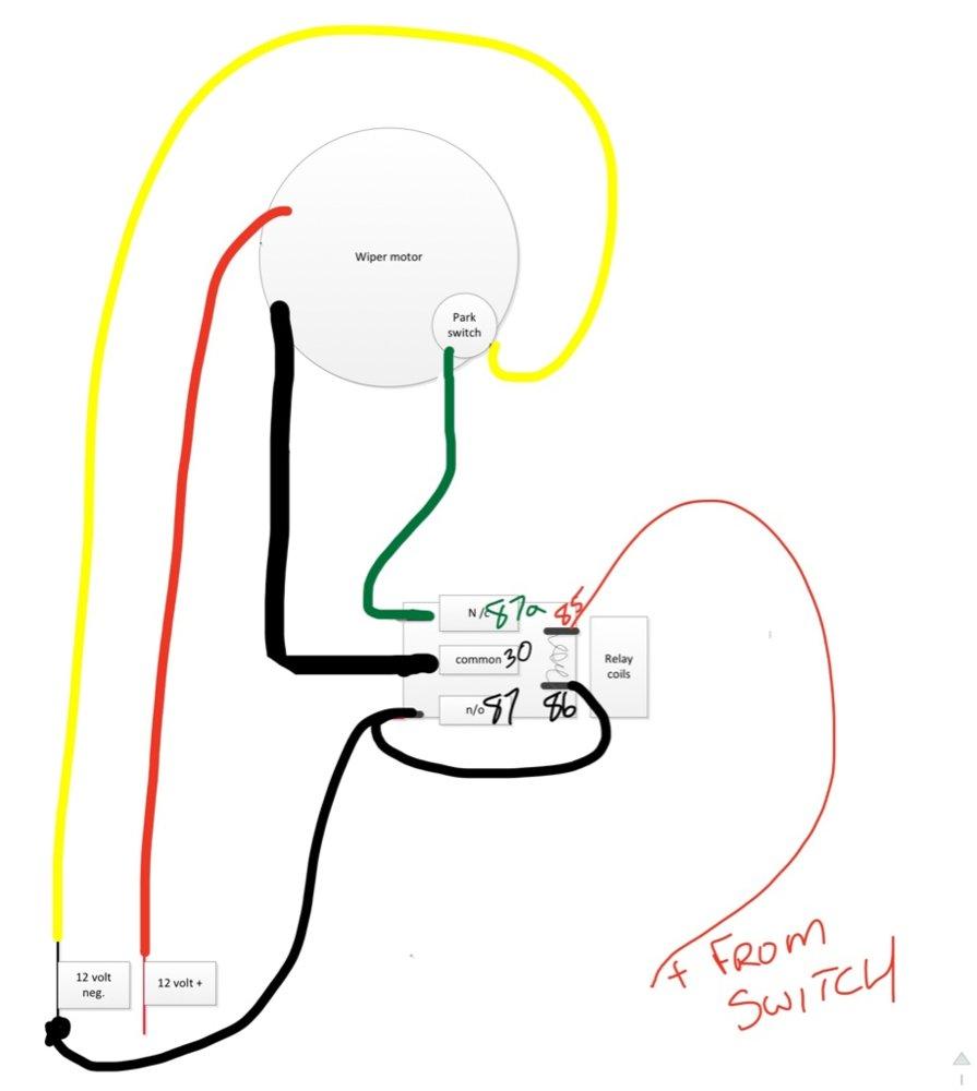 medium resolution of p1000m5 wind shield wiper wiring the honda side by side club wiper motor 12 volt relay wiring diagrams