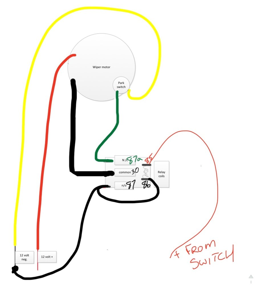 hight resolution of p1000m5 wind shield wiper wiring the honda side by side club wiper motor 12 volt relay wiring diagrams