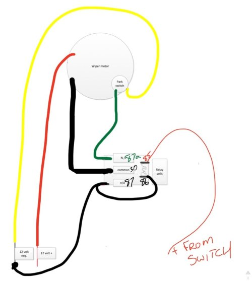 small resolution of p1000m5 wind shield wiper wiring the honda side by side club wiper motor 12 volt relay wiring diagrams