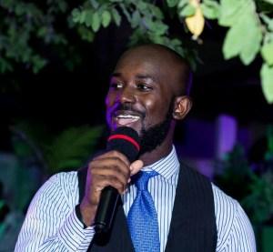 Hondred Percent as MC at a wedding