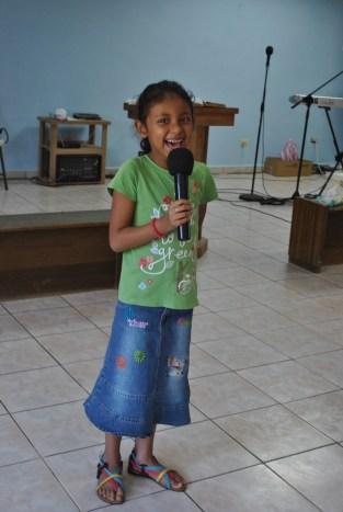 Having fun singing!