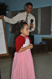 This little girl learned the memory verse both days and said it without any help. I was amazed.