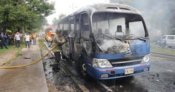 Capturan a supuesto autor material de la quema de un autobús en Tegucigalpa