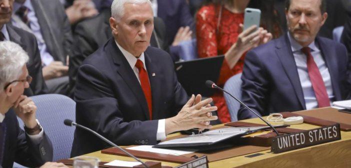 Pence llama a la ONU a reconocer a Guaidó como presidente de Venezuela