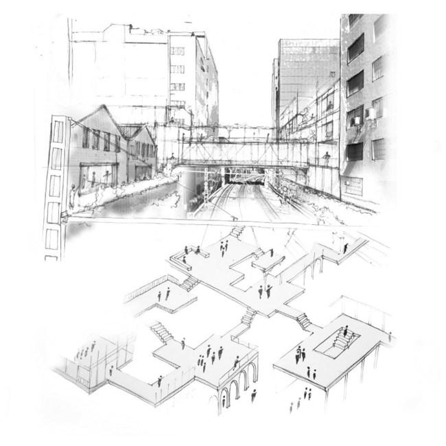 architecture sociale plan croquis