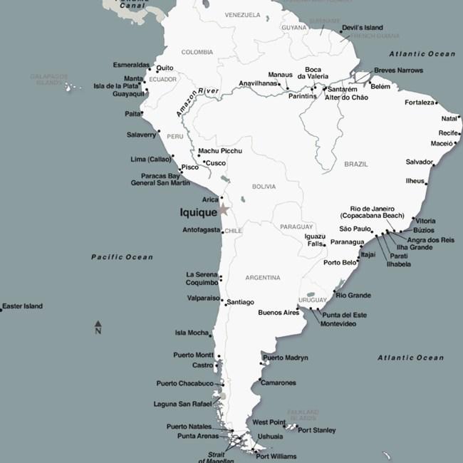 carte monde iquique