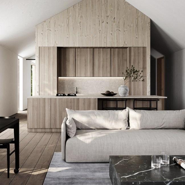 clt maison honei architecture design bois intérieur