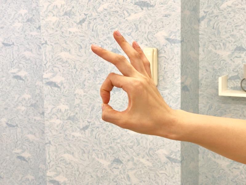 親指と人差し指