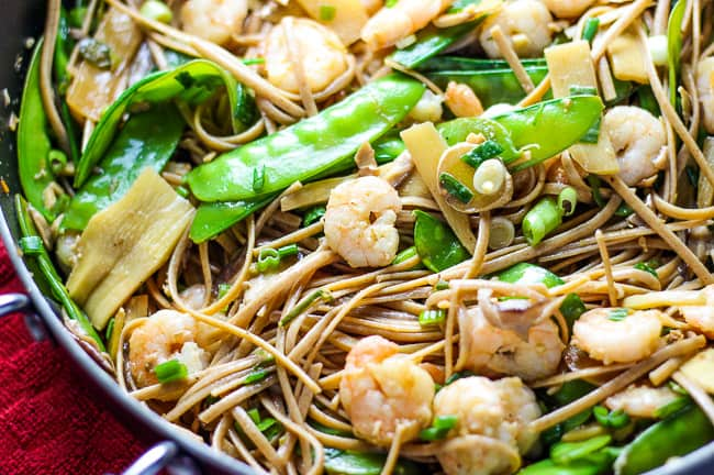 Shrimp Stir Fry with Noodles