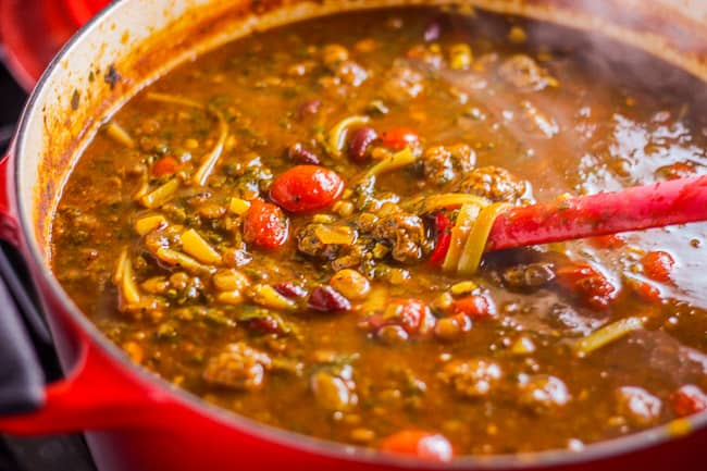 Hearty Persian Beef, Beans, and Herb Soup (Aash Reshteh Azeri)