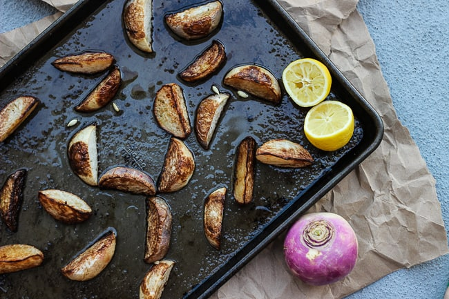 easy roasted turnips with lemon-5