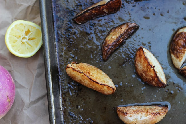 easy roasted turnips with lemon