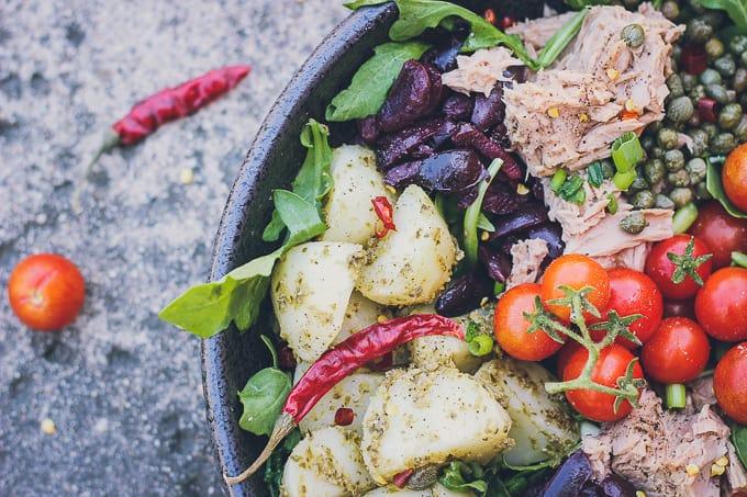 mediterranean tuna and potato summer salad-11