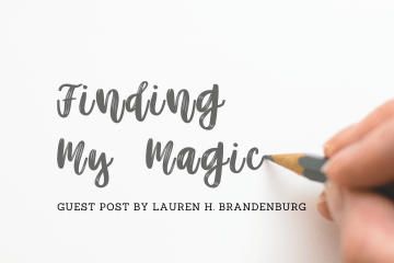 Person's hand holding a grey pencil with title Finding my Magic
