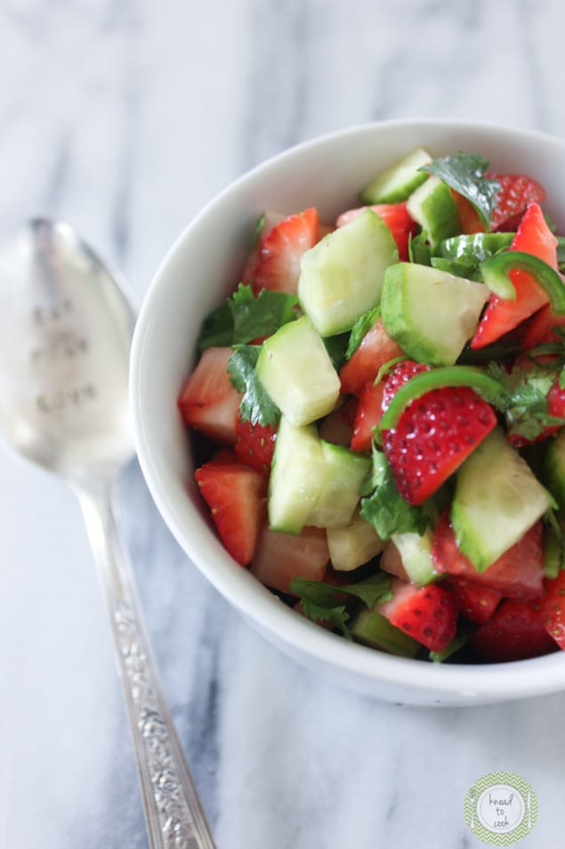 Honest Cooking's Strawberry and Cucumber Salsa