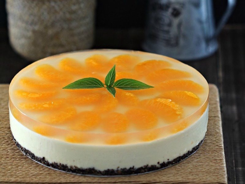 Simple NoBake Orange Cheesecake