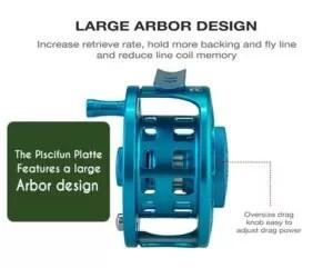 Piscifun Platte features a large Arbor design