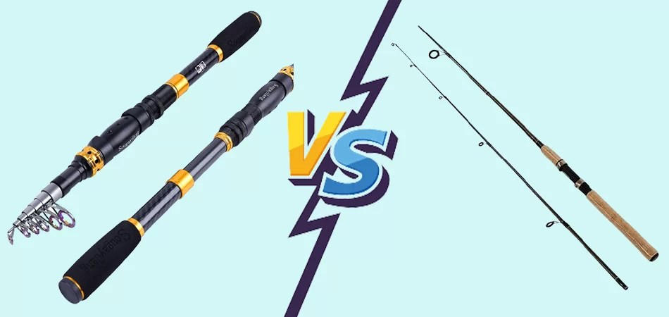Telescopic Fishing Rod Vs 2 Piece: What's The Difference?