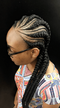 Straight Back Cornrow Braid Styles