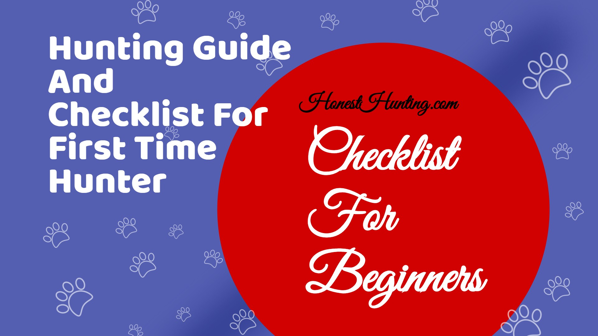 Checklist For First Time Hunter
