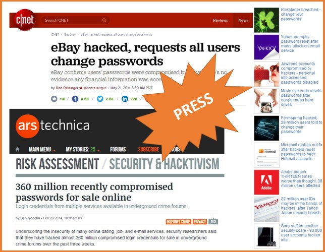 ebay, Adobe, Sony websites compromised
