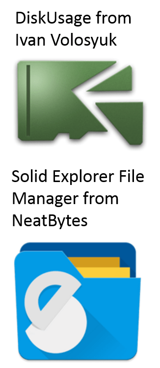 logos for disk usage and solid explorer