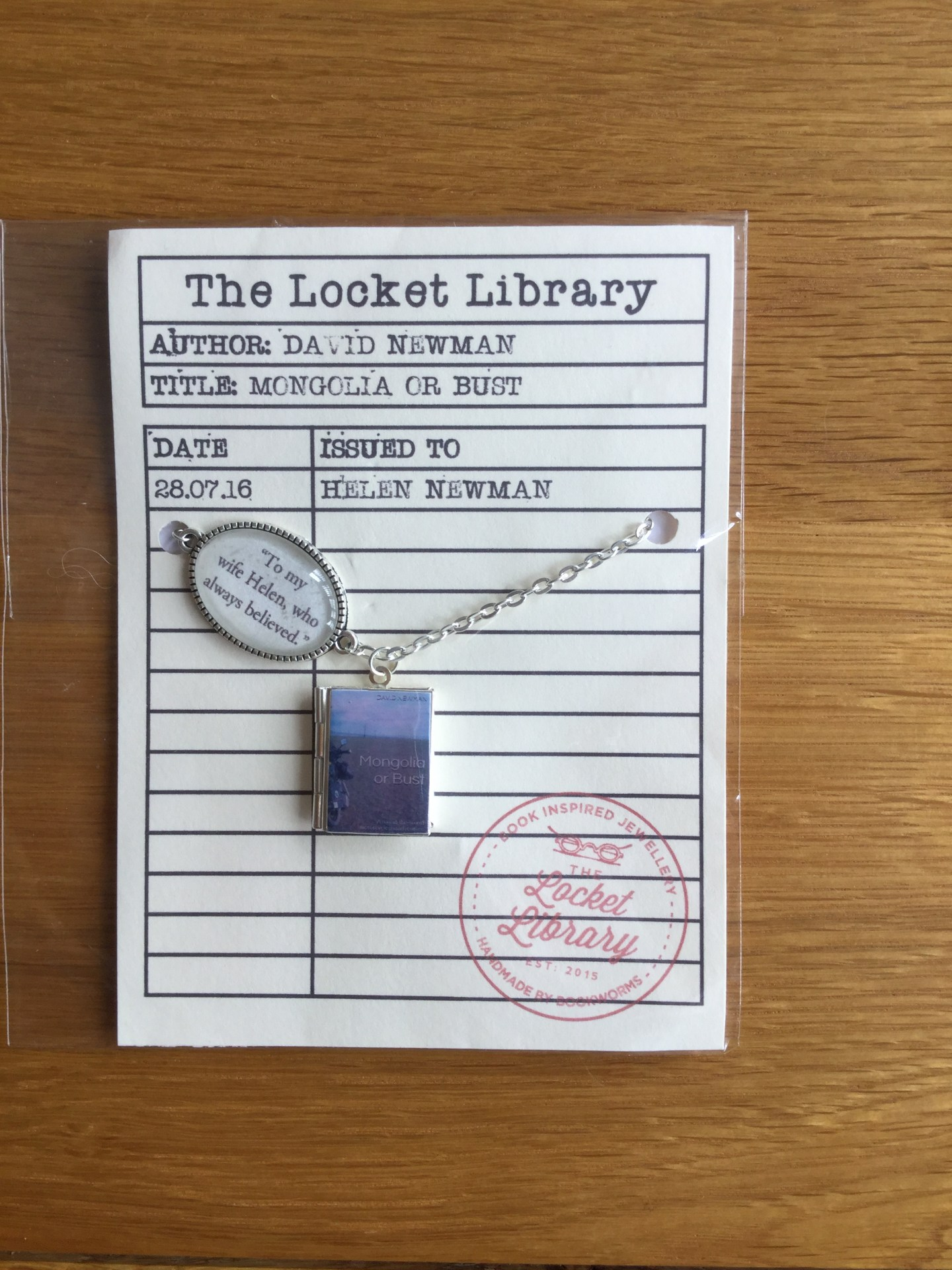 Locket Library Necklaces