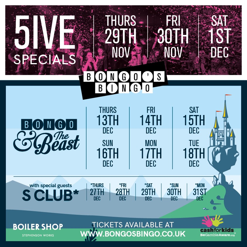 Bongos Bingo in Newcastle are back with a bang this Christmas!