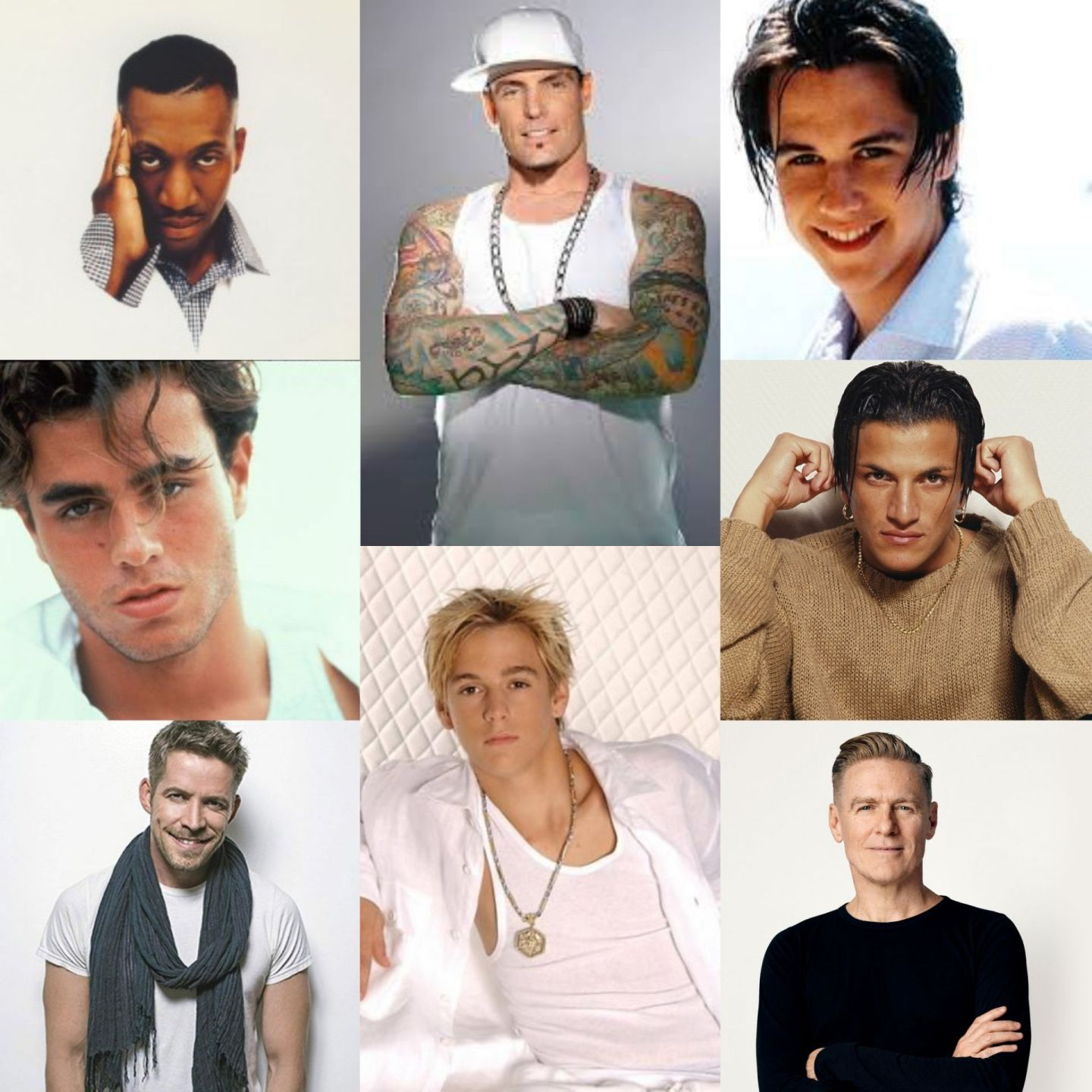 A-Z of 90s male solo stars