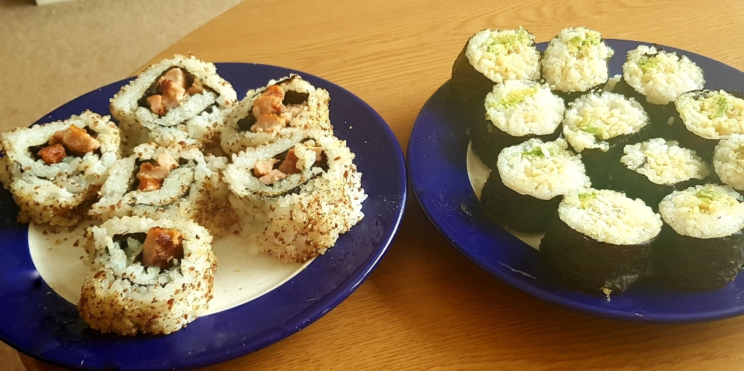 Sushi making at home with Sous Chef